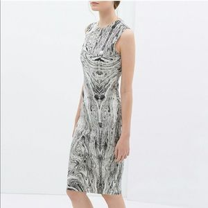 Zara Marble Shift Dress Medium BNWT